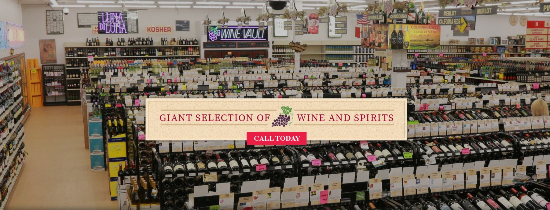 Overview Giant Slection of Wine & Spirits
